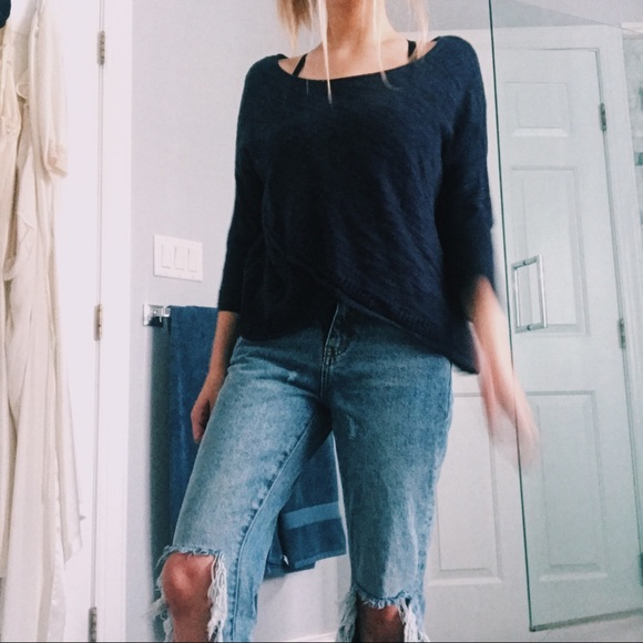 Anthropologie Tops - Navy Blouse